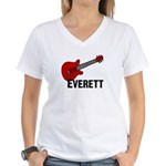 Guitar - Everett Women's V-Neck T-Shirt