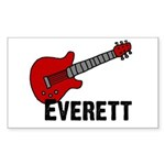 Guitar - Everett Rectangle Sticker