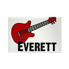 Guitar - Everett Rectangle Magnet