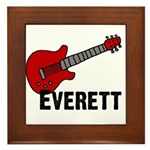 Guitar - Everett Framed Tile