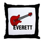 Guitar - Everett Throw Pillow