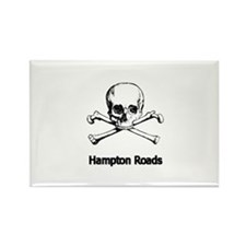Hampton Roads Pirate Rectangle Magnet