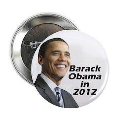 """Obama in 2012 2.25"""" Button"""