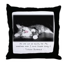 Conceited Cat-And-Quote Throw Pillow