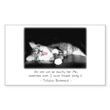 Conceited Cat-And-Quote Rectangle Decal
