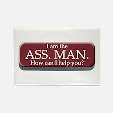 I am the Ass. Man Rectangle Magnet
