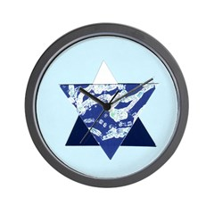 Star of David Hanukkah Holidays Wall Clock