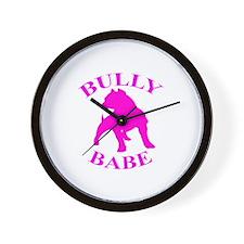 Bully Babe Wall Clock
