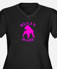 Bully Babe Women's Plus Size V-Neck Dark T-Shirt