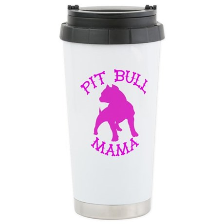 Pitbull Mama Solid Stainless Steel Travel Mug