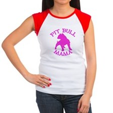 Pitbull Mama Solid Women's Cap Sleeve T-Shirt
