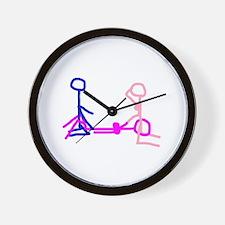 Stick figure 2 Wall Clock