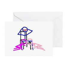 Stick figure 3 Greeting Card