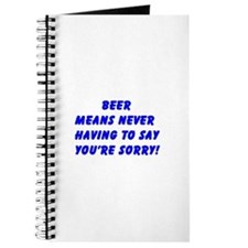 """Beer Means ......"" Journal"