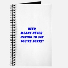 """""""Beer Means ......"""" Journal"""