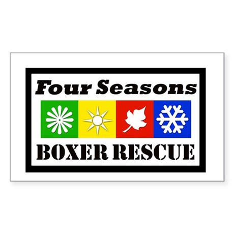FSBR Logo without Boxer Icon Rectangle Sticker