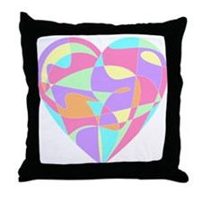 Pastel Heart Throw Pillow
