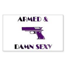 Armed & Damn Sexy Rectangle Decal