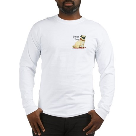Adorable Jingle Pug! Long Sleeve T-Shirt