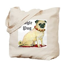 Adorable Jingle Pug! Tote Bag