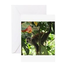 Squirrelling Around Greeting Card