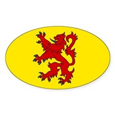 Scottish Oval Stickers
