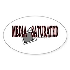 Media Saturated - Oval Decal