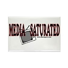 Media Saturated - Rectangle Magnet