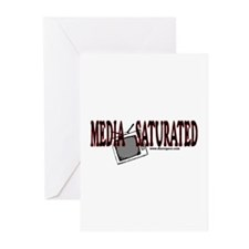 Media Saturated -  Greeting Cards (Pk of 10)