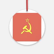 USSR Flag Ornament (Round)