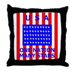 Flag 3 Throw Pillow