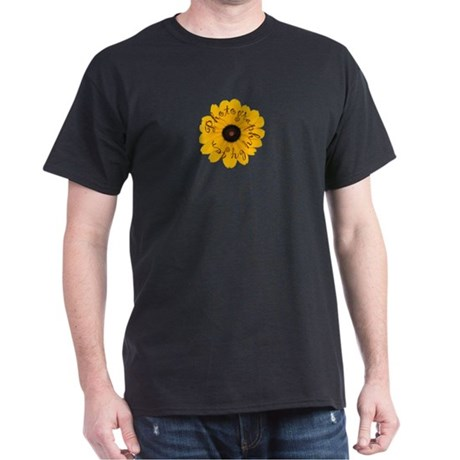 JenPics Flower Logo Black T-Shirt