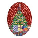 Classic Christmas Oval Ornament