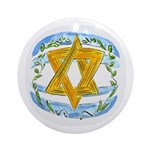 Star of David Round Ornament