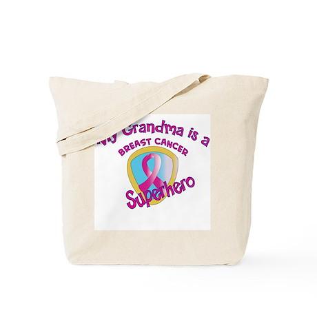 Grandma Breast Cancer Superhe Tote Bag