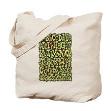 A to Z and Numbers 0 thru 9 Tote Bag