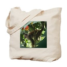 Green Leaf Monkey Tote Bag