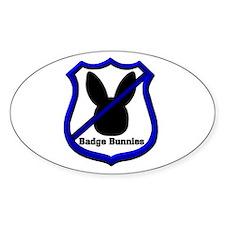 No Badge Bunnies Oval Decal