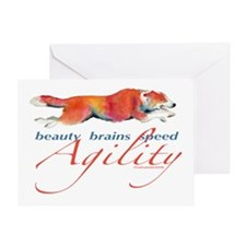 Beauty, Brains and Speed Greeting Card
