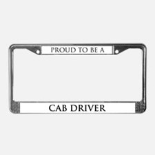 Proud Cab Driver License Plate Frame