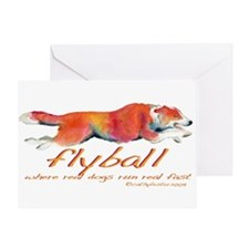 Real dogs Real fast Greeting Card