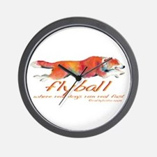 Real dogs Real fast Wall Clock