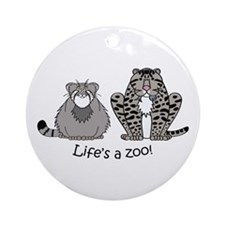 Fishing Cat/Pallas Cat Combo Ornament (Round)