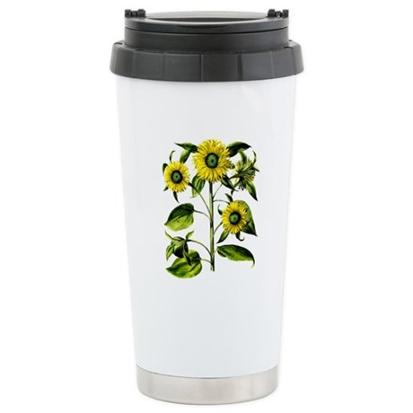 Botanical Sunflowers Stainless Steel Travel Mug