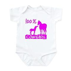 100% COWGIRL Infant Bodysuit