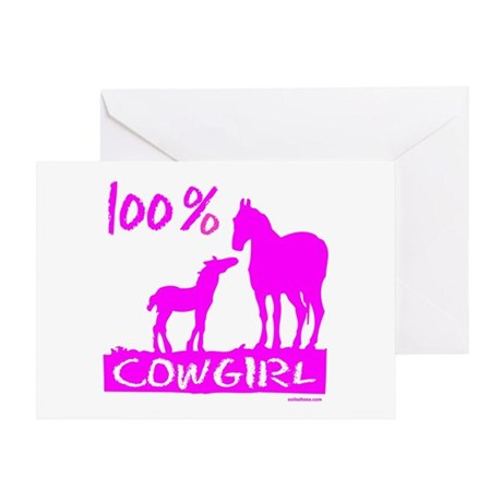 100% COWGIRL Greeting Card