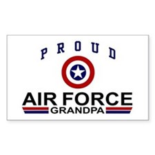 Proud Air Force Grandpa Rectangle Decal