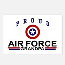 Proud Air Force Grandpa Postcards (Package of 8)
