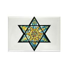 Jewish Star Rectangle Magnet