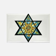 Jewish Star Rectangle Magnet